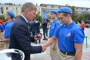 Состоялась торжественная церемония вступления молодежи в ряды Всероссийского военно-патриотического движения «Юнармия»