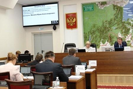 Состоялось очередное заседание постоянного комитета Законодательной Думы Хабаровского края по законности, правопорядку и общественной безопасности